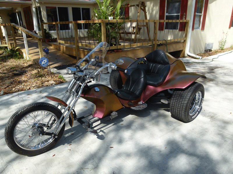Chameleon Trike Custom paint job.
