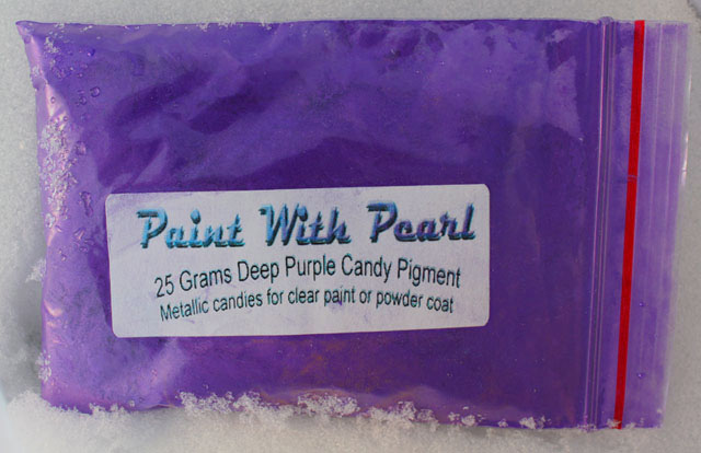 a deep dark metallic purple custom paint pigment for use in any