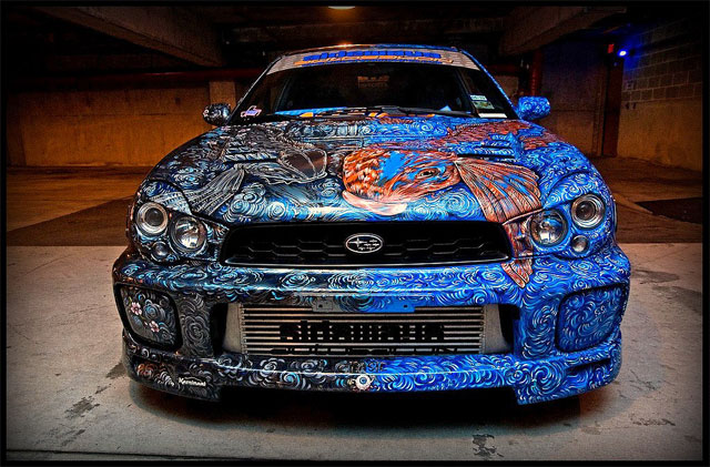 The Coolest Custom Paint Job On A Subaru By Sideways Auto Salon